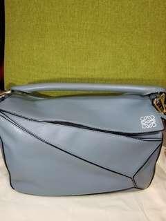 Loewe Puzzle Bag 中 灰藍