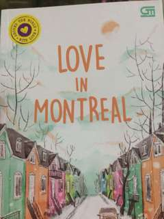 "Buku novel ""love in montreal"""