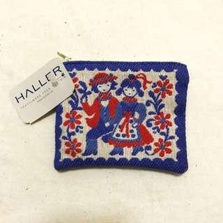 BNWT Haller Handmade Textile Traditional Austria Coin Pouch Card Holder