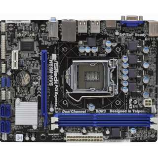 🚚 華擎H61M-HVS ( 網、音、顯 ) LGA1155 整合式主機板、DDR3、Intel H61、拆機良品、附檔板