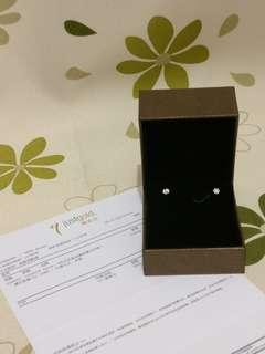 100%real 全新 justgold diamond earrings 鎮金店 鑽石 耳環 有單