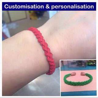 Suede Cord Loop-Loop Braid Bracelet (make to your wrist size, yah) [paracord styled; uncle anthony]  FOR MORE PICS & DETAILS, 👉 http://carousell.com/p/116189545