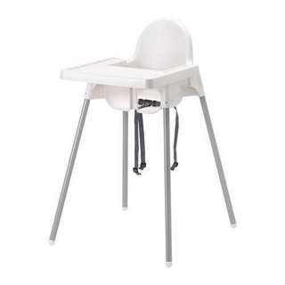 IKEA Antilop - baby highchair with tray