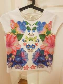 Zara Flowery Tshirt