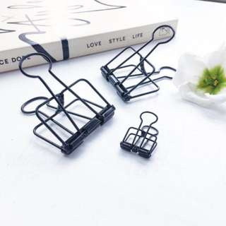 instock! - Black Skeleton Binder Clips