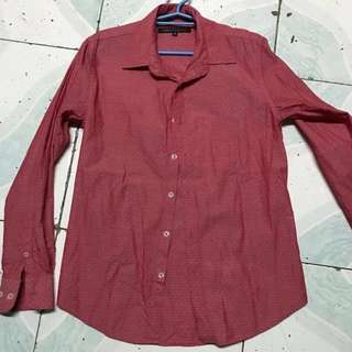 Uberto Duranti Red Polo Long Sleeve