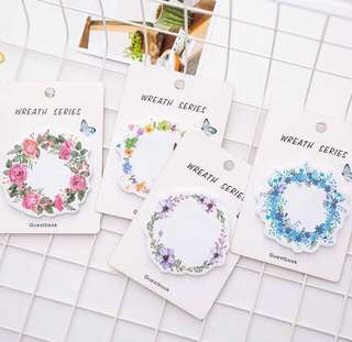 Instock! - Flower Wreath Tumblr Post Its