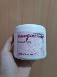 Masker whitening body and face