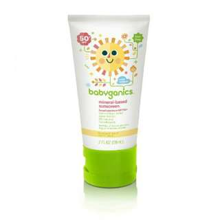 Babyganics Mineral-Based Sunscreen Broad Spectrum SPF50+ 2oz/59ml