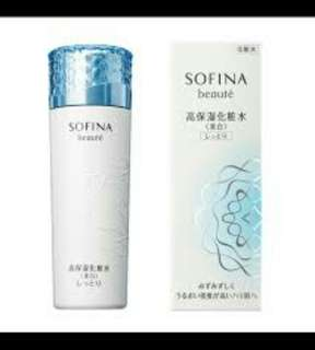 SOFINA 蘇菲娜 芯美顏美白瀅潤滲透露升級版 清爽型 140ml  保存至2020.04.12