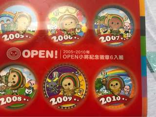 🚚 open小將紀念徽章6入組(含運)
