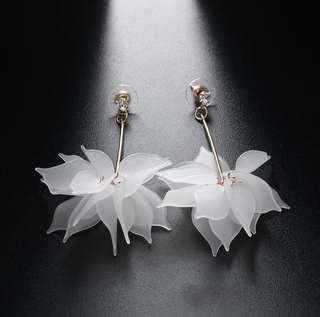 Elegant Flower Drop Earrings