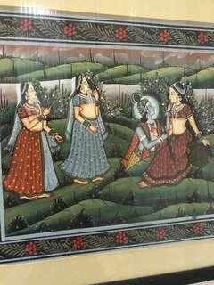 Lord Krishna art set of 4