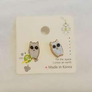 韓國耳環 - 可愛貓頭鷹