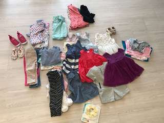 Pre-loved 3months - 18 months old girl clothes