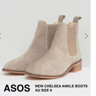 ASOS Absolute Suede Leather Chelsea Ankle Boots Size 9 - NEW