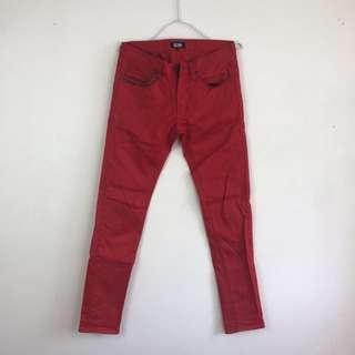 🚚 清空間 二手自售 正品izzue紅色時髦窄管褲