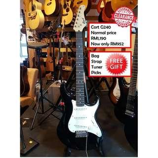 Cort G240 BK Black G Series Electric Guitar