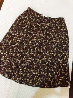 Floral casual skirt 🍃Size 26-27