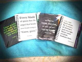 motivation quotes notebook w pen set