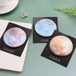 instock! - 2 Colours Planet Sticky Notes