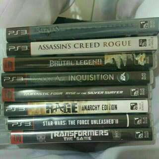 Pre loved Ps3 Games for Sale