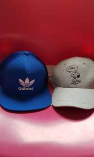 Orginal Adidas & Cotton On Snoopy Caps