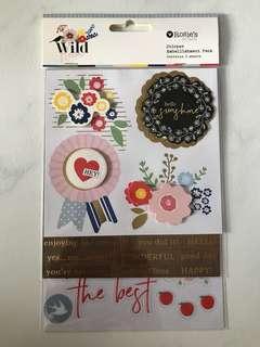 Sticker Embellishment Pack <Flowers>