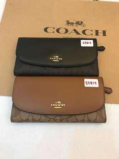 Coach Long Wallet Triple Fold