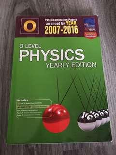Past Exam Paper O Level Physics 2007-2016
