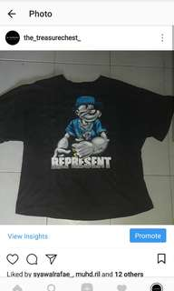 Vintage Oversize Popeye The Sailor Represent T-shirt