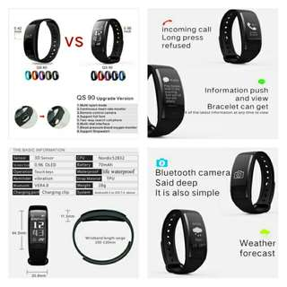 🚚 🆒🆕 QS90 Smart Wristband Bracelet Bluetooth Heart Rate Monitor Pedometer Waterproof IP67 Health Sports Fitness for Android