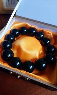 Black Stone Meditation Bracelet