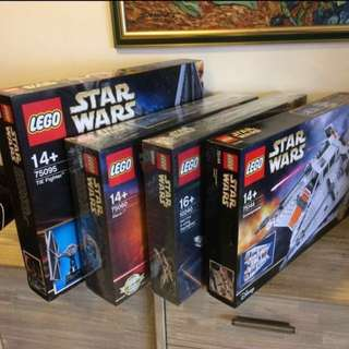 (Bundle) MISB Lego UCS Star Wars 10240 75060 75095 75181 X-Wing Slave 1 TIE Fighter Y-Wing