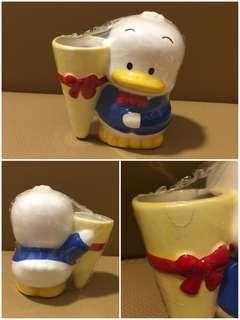 Sanrio Ahiru No Pekkle 鴨仔 1997 年 人形陶瓷花樽 (全新未用過) 3.5 吋高 (** 完全沒冰裂, 但花樽口撞崩左少少, 撞崩那少部分保留在原位**) (** 只限北角地鐵站交收 **)