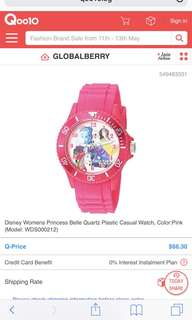 Disney Womens Princess Belle Quartz Casual Watch (Original)