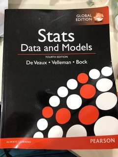 Stats (Data and Models) Fourth Edition De Veaux Velleman Bock