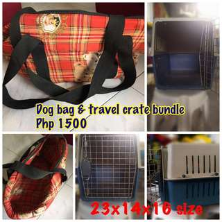 Dog bag and travel crate
