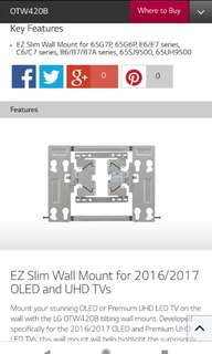 LG TV wall mount OTW420B new