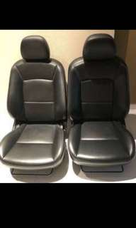 Mitsubishi Lancer Ex Genuine Leather Stock Seats Include Railings and Brackets