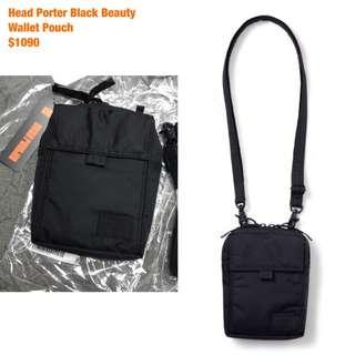 預訂 日本 Head Porter Black Beauty wallet pouch 斜咩 袋 細袋