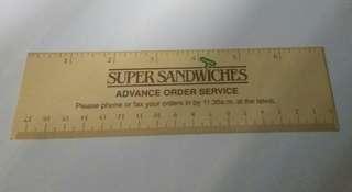 80-90's Super Sandwiches 宣傳品,書韱,間尺