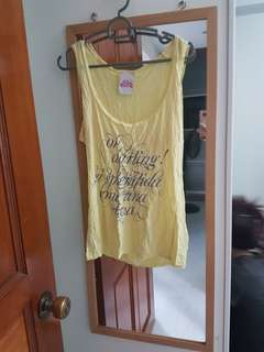 BN yellow tank top