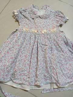 Lovely lace baby smocked dress