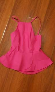 Forever new halter top. Pink size 6