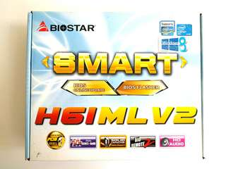 Biostar H61MLV2 LGA1155 Motherboard with CPU and RAM