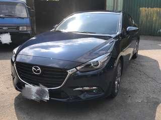 自售 Mazda 3  藍旗艦款 導航 新車 2017年7月