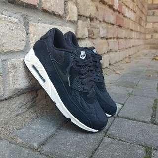 UK 4.5 ~ Womens Nike Air Max 90 Premium PRM Trainers Shoes WMNS 443817-009