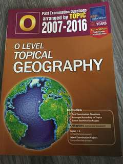 O Level Topical Geography Past Exam Questions