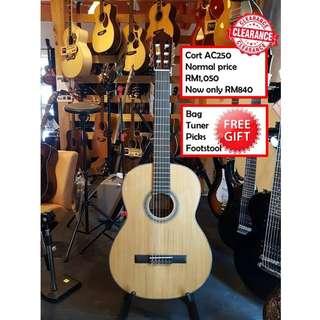 Cort AC250 NAT Natural Glossy Classical Guitar